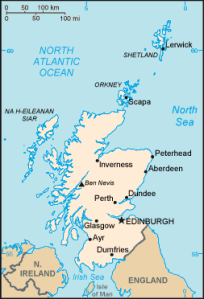 Scotland - 33 wars map