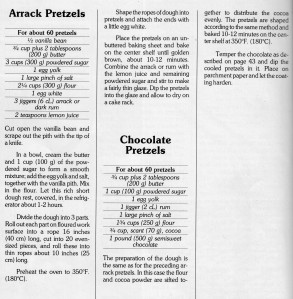 Arrack Pretzels - Recipe