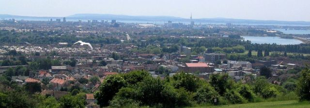 Portsmouth from Portsdown Hill