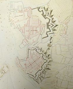 Portsmouth, Map of town and dock defences, 1773