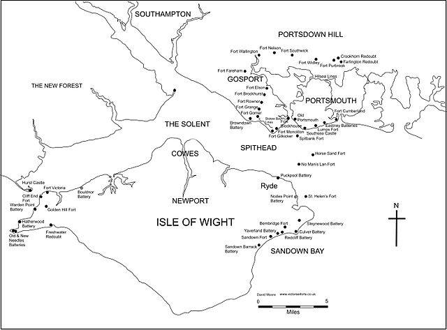 Portsmouth, plan of fortifications