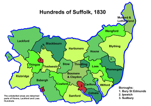 Suffolk Hundreds, 1830