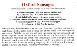 Oxford Sausages