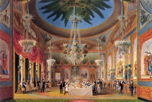 Banqueting Room of the Royal Pavillion, Brighton. Nash