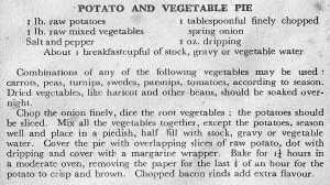 Potato & Vegetable Pie - TKF