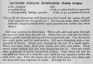 Savoury Potato Dumplings - TKF