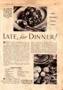 Late For Dinner 1