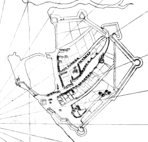 Map of Portsmouth, 1540