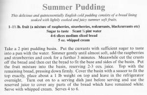 UK - Hampshire - Summer Pudding
