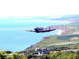 A Spitfire Over The Coast