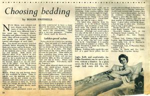 Choosing Beddings