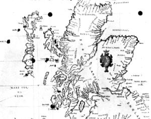 Carte of Scotlande, 1580