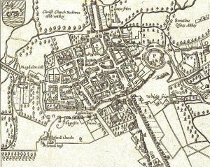Map Of Oxford, John Speed, 1605
