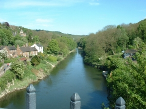 Downstream From The Ironbridge - Shropshire