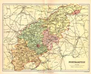 Northampton, map