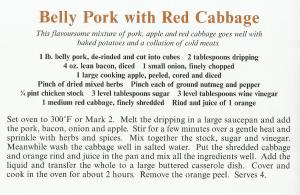 UK - Cambridgeshire - Belly Pork with Red Cabbage