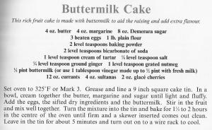 UK - Cambridgeshire - Buttermilk Cake