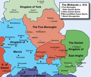 5 Boroughs, the Midlands in 912