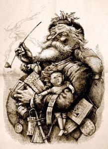 Merry Old Santa, Nast, 1881