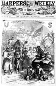 Santa Claus, Nast, 1863, Harpers