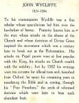 John Wycliffe - biog