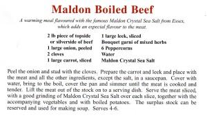 Maldon Boiled Beef