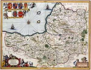 Map of Somerset, 1646