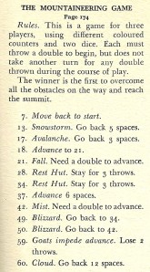 The Mountaineering Game - Rules