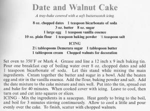 UK - Cumbria - Date & Walnut Cake