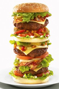hamburger-pile