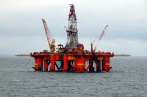 An Oil Platform in the North Sea