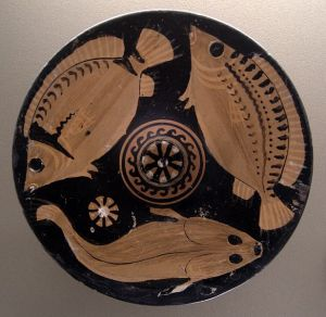 Ancient Greek Fish Plate
