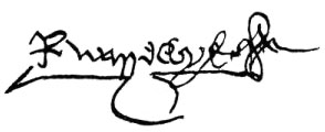 Signature of Richard Neville, 16th Earl of Warwick, The 'Kingmaker'