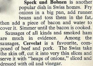 Speck und Bohnen