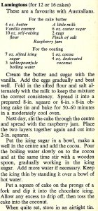 Lamingtons - recipe