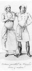 Cooks Costumes of the 19th C.