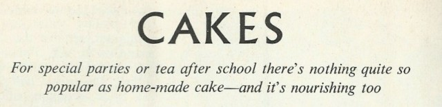 Cakes - title