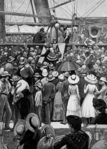 Disembarcation, c. 1885