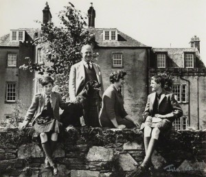 NPG x128668; Sir Fitzroy Hew Royle Maclean, 1st Bt; Veronica Nell (Phipps) (nÈe Fraser), Lady Maclean and their two sons by Ida Kar
