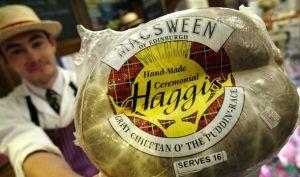 Man Holding McSween Haggis