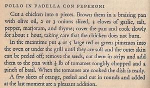 Mediterranean Cookery - Pollo in Padella con Peperoni