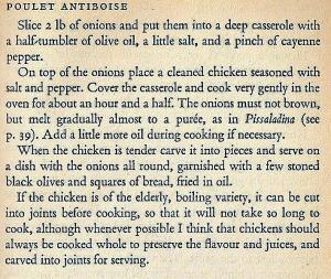 Mediterranean Cookery - Poulet Antiboise