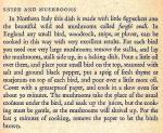 Mediterranean Cookery - Snipe and Mushrooms