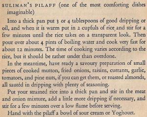 Mediterranean Cookery - Sulimans Pilaff