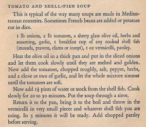 Mediterranean Cookery - Tomato & Shellfish Soup