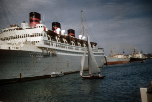 The Queen of Bermuda in Bermuda, late 1952