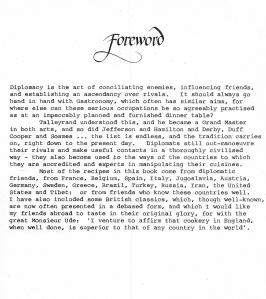 Diplomatic Dishes - Foreword