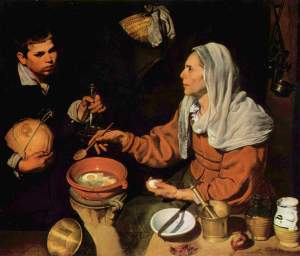 Diego_Velázquez - woman frying eggs