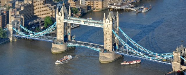 Tower Bridge in RW&B for the Queens Jubilee