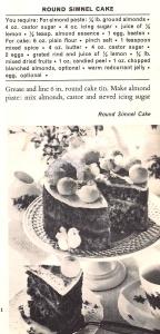 Round Simnel Cake